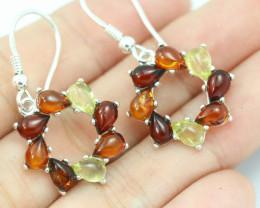 Natural Baltic Amber Earrings   code GI 1556