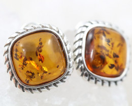 Natural Baltic Amber Earrings   code GI 1557