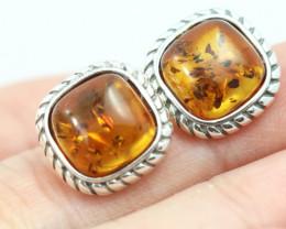 Natural Baltic Amber Earrings   code GI 1558
