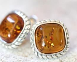 Natural Baltic Amber Earrings   code GI 1559