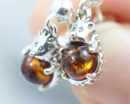 Natural Baltic Amber Earrings   code GI 1563