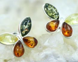 Natural Baltic Amber Earrings   code GI 1565