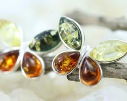 Natural Baltic Amber Earrings   code GI 1566