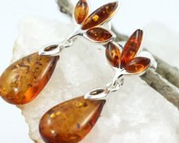 Natural Baltic Amber Earrings   code GI 1570