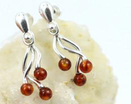 Natural Baltic Amber Earrings   code GI 1571