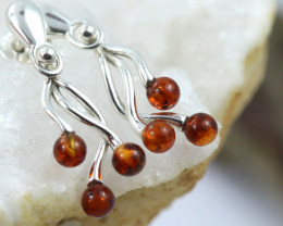 Natural Baltic Amber Earrings   code GI 1572