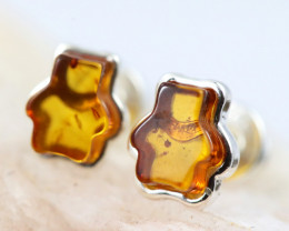 Natural Baltic Amber Earrings   code GI 1583