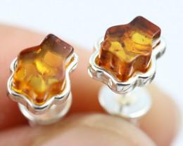 Natural Baltic Amber Earrings   code GI 1584