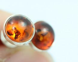 Natural Baltic Amber Earrings   code GI 1588