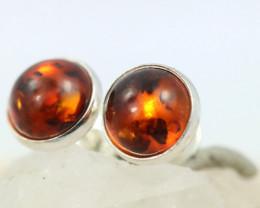 Natural Baltic Amber Earrings   code GI 1590