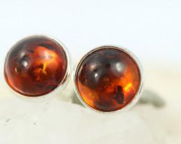 Natural Baltic Amber Earrings   code GI 1591