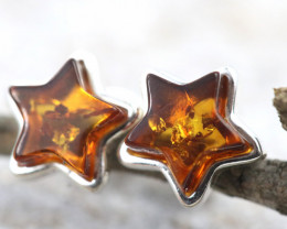 Natural Baltic Amber Earrings   code GI 1595
