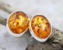 Natural Baltic Amber Earrings   code GI 1602