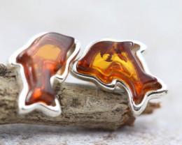 Natural Baltic Amber Earrings   code GI 1609