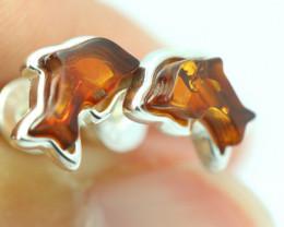 Natural Baltic Amber Earrings   code GI 1610
