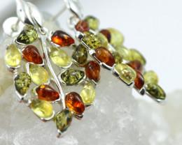 Natural Baltic Amber Earrings   code GI 1647