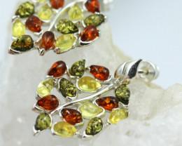 Natural Baltic Amber Earrings   code GI 1649