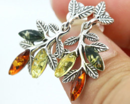 Natural Baltic Amber Earrings   code GI 1653