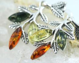 Natural Baltic Amber Earrings   code GI 1654