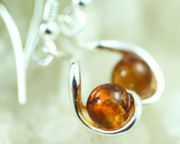 Natural Baltic Amber Earrings   code GI 1657
