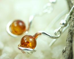 Natural Baltic Amber Earrings   code GI 1658