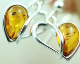 Natural Baltic Amber Earrings   code GI 1662