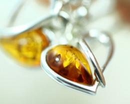 Natural Baltic Amber Earrings   code GI 1663