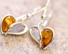Natural Baltic Amber Earrings   code GI 1664