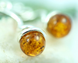 Natural Baltic Amber Earrings   code GI 1668
