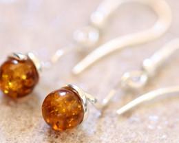 Natural Baltic Amber Earrings   code GI 1669