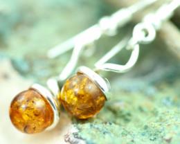 Natural Baltic Amber Earrings   code GI 1671