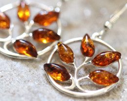 Natural Baltic Amber Earrings   code GI 1676