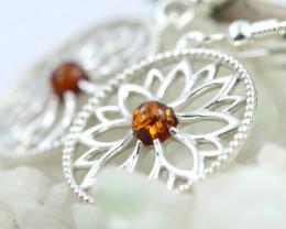 Natural Baltic Amber Earrings   code GI 1680
