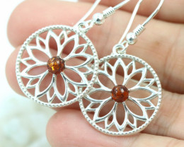 Natural Baltic Amber Earrings   code GI 1682