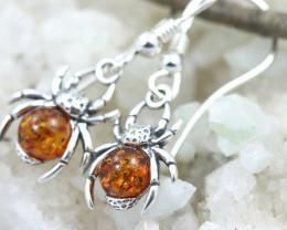 Natural Baltic Amber Earrings   code GI 1686