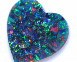 Lovers Heart Shape  Opal Mosaic    CCC 1816