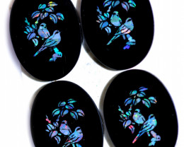 Four Parcel deal Birds Opal & Black jadel Opal stone CCC 1918