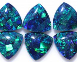 Three  Pairs Tri 9mm   Shape  Opal Mosaic Triplets   CCC 1933