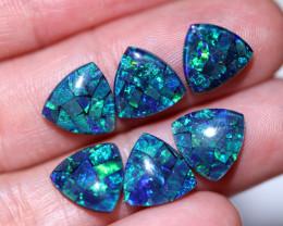 Three  Pairs Tri 9mm   Shape  Opal Mosaic Triplets   CCC 1935