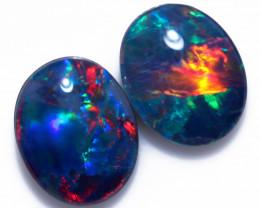 Two Gem 10x8 mm    Opal  Triplets   CCC 1950