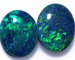 Two Gem 10x8 mm  Opal  Triplets   CCC 1949