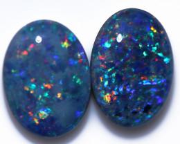 pair Large  Gem   Opal  Triplets 18x13mm   CCC 1966