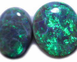 10.5 Cts  Two Amazing Mintabie Opal code CCC2013