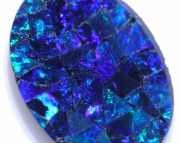 3.7 Cts Blue  Opal Mosiac Doublet    CCC 2064