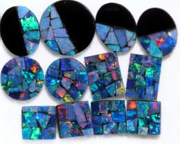 7.4 Cts Parcel 12 pcs  Opal Mosiac Doublet    CCC 2069