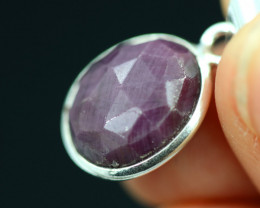 Faceted Ruby Sterling Silver pendant code CCC 2142