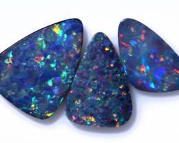 6.05 Cts parcel 3 pcs Opal Doublet  CCC 2548