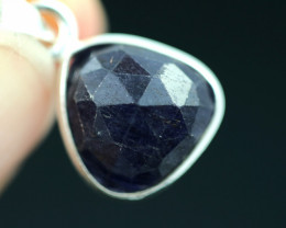 Faceted Sapphire Sterling Silver pendant code CCC 2256