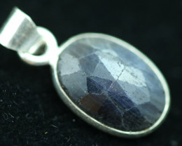 Faceted Sapphire Sterling Silver pendant code CCC 2257