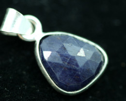 Faceted Sapphire Sterling Silver pendant code CCC 2258